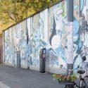 Quando l'azzurro domina nel murales
