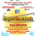 """Progetto """"Cinema a Scuola"""" Anno Scolastico 2017/2018"""