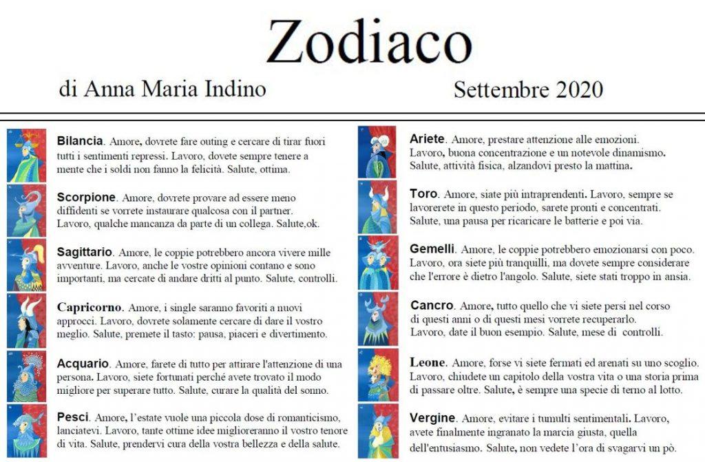 zodiaco sett 2020