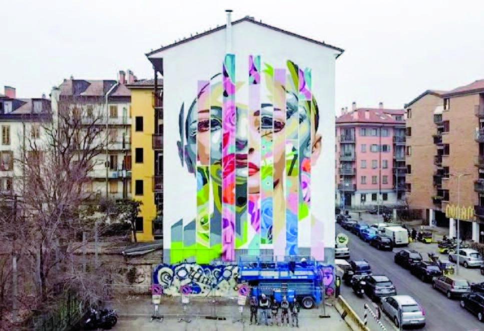 Borsieri: il nuovo grande murales dell'Isola, opera degli Orticaspaghetti